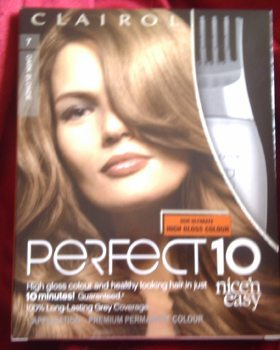 Perfect 10 Shade 7 Dark Blonde (Butterscotch Boom) by Clairol (Nice 'n' Easy)