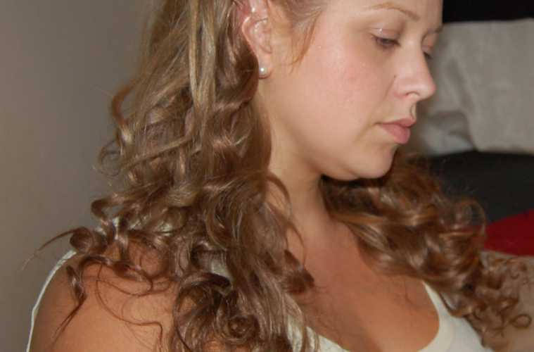 Hair Tutorial Slick Part Up Do Straight And Curly Version Using