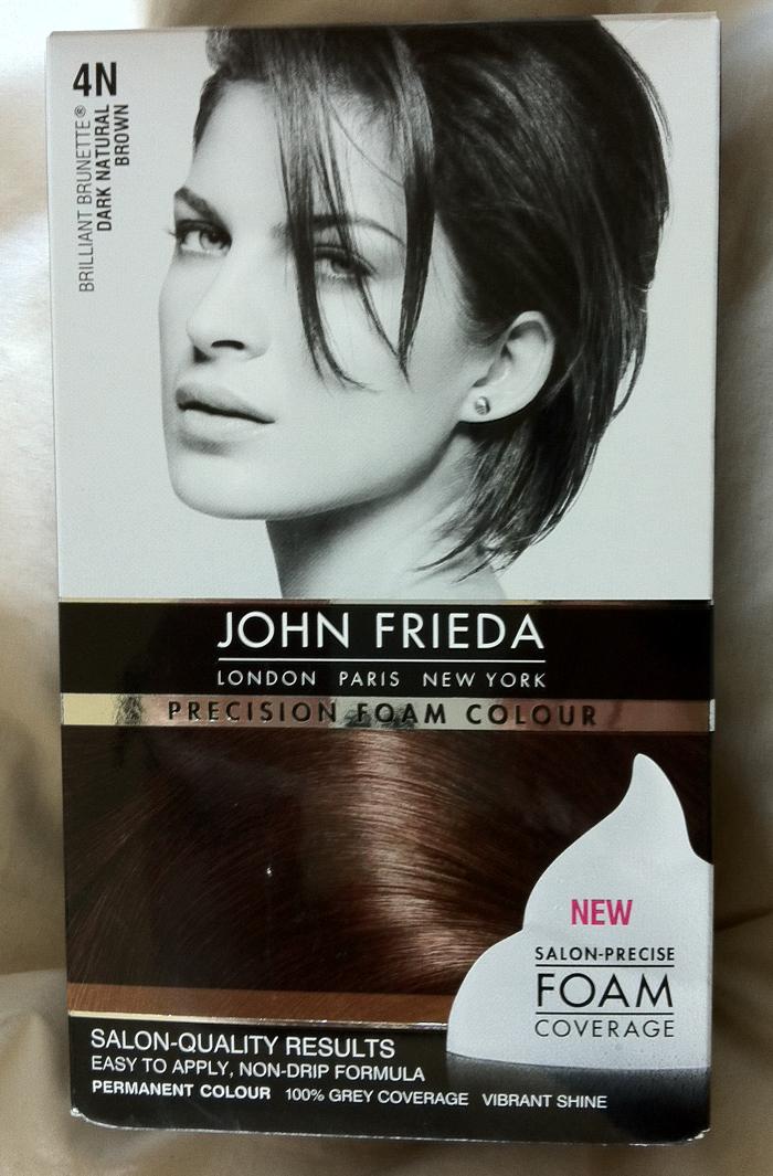 Review John Frieda Precision Foam Colour In 4n Natural Dark Brown