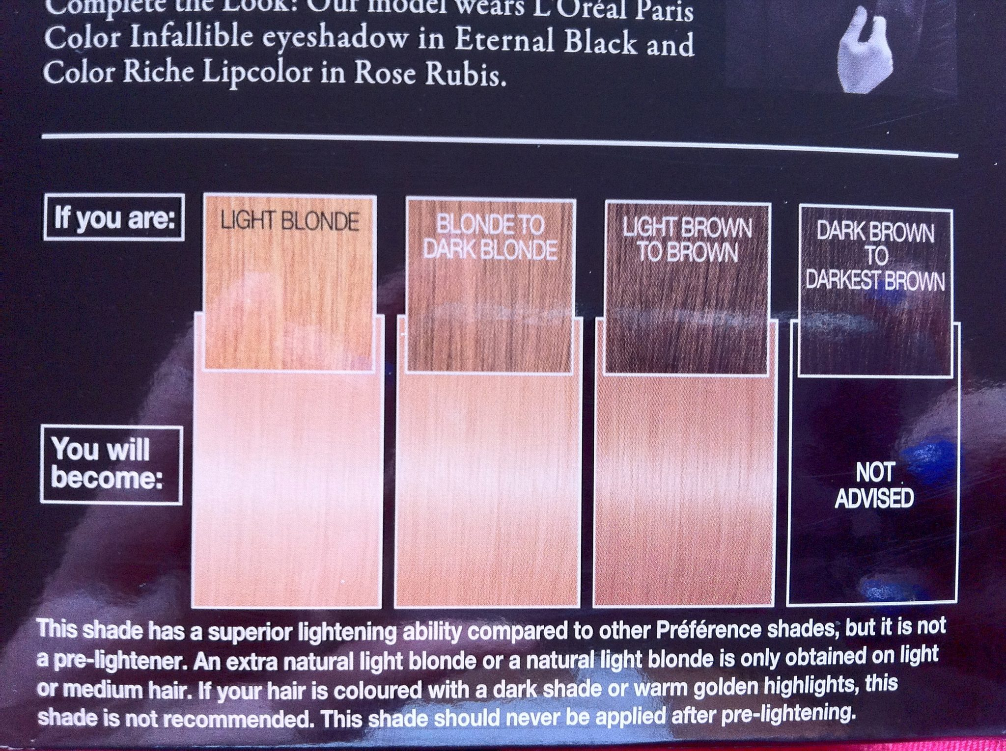 Preference By L Oreal Color Chart Ibovnathandedecker