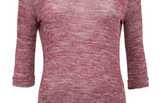 Haul - Newlook Plum Marl Roll Sleeve Top
