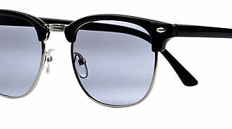 BLACK RETRO HALF FRAME ROUND SUNGLASSES £13.00