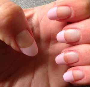 Almond Shaped Nails - Here's my pink french tips almond shaped