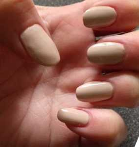 NOTD: Neutral Almond Shaped Nails and Happy Mother's Day