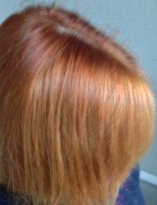 Experiment/Tutorial - Removing Dye From Your Hair Using Vitamin C - hair after