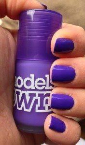 Models Own 'Pukka Purple' Iced Neon Nail Polish - swatch natural light