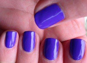 Models Own 'Pukka Purple' Iced Neon Nail Polish - artificial light