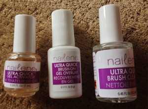 nailene ultra quick brush on gel kit instructions