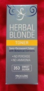 Haul June - Ultimate Hair and Beauty Proclere Herbal Blonde Toner in Sweet silver 353