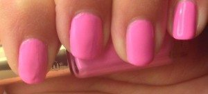 L'Oreal Color Riche Neon Pop: Acid Watermelon (827) - A bright baby pink! Bright, stands out and also makes your nails look longer!