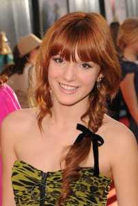 Bella Thorne with her side braid