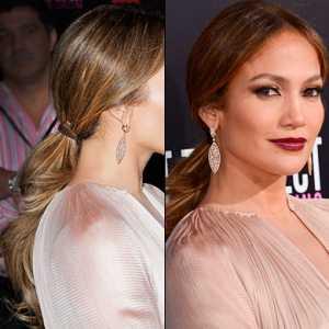 Jennifer Lopez with her low pony