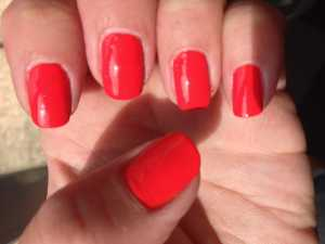Barry M Jelly Nail Varnish in Satsuma (GNP7) - Swatch Direct Sunlight