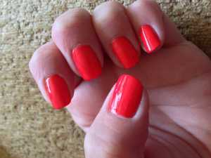 Barry M Jelly Nail Varnish in Satsuma (GNP7) - Swatch