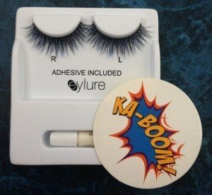 The lashes come labelled for each eye, with their own glue and a funky sticker too