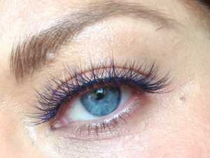 Eylure Katy Perry Color Pop Lashes Ka-Boom! the blue lashes really intensify the blue of my eyes I think