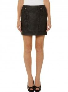 Dorothy Perks Black leather look quilted pocket skirt £28.00