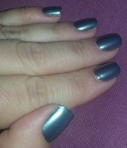 Broadway Impress Press-On False Nails in 58065 - After Applying (1st day)