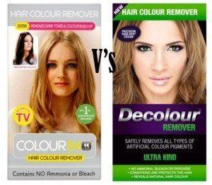 Colourb4 vs Decolour Remover