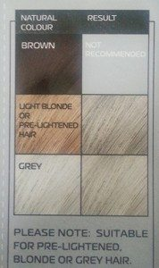 MELLOR & RUSSELL Simply Bright Cool Silver Hair Dye - Colour Results Indicator