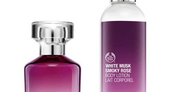 Body Shop White Musk Smoky Rose Eau de Toilette and Body Lotion