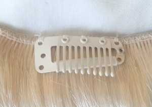 The clips are larger than standard clips but more secure. They have the silicone/runner strip for comfort and also to protect they hair when clipped in