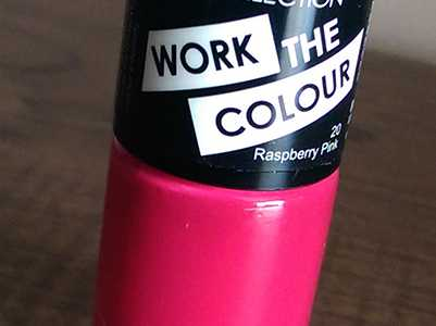 COLLECTION Work The Colour Nail Polish in Raspberry Pink 20