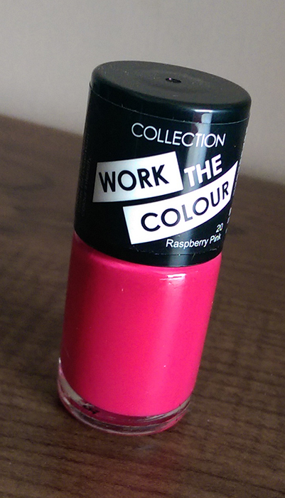 COLLECTION Work The Colour Nail Polish in Raspberry Pink 20 ...