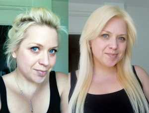 Platinum L02 Results – (Left) Before, (Right) After L'Oreal Feria ...