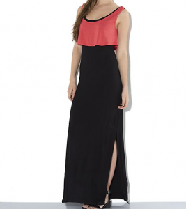 New Look Coral 2 in 1 Colour Block Jersey Maxi Dress £19.99