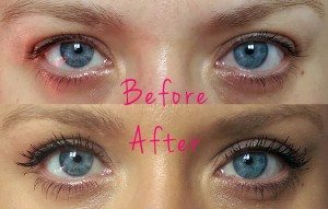 Sheer Cover Studio Lengthening Mascara and Lash Extending Fibres - After using the mascara, fibres and then applying the final coat to seal the fibres of mascara