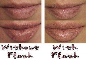Illamasqua Glamore Starkers Lipstick swatch on lips