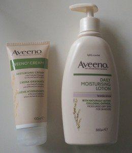 Aveeno Daily Moisturising Lotion and Aveeno Cream
