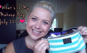 Youtube: What's In My Makeup Bag July 2014