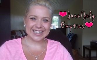 Youtube: June/July Empties
