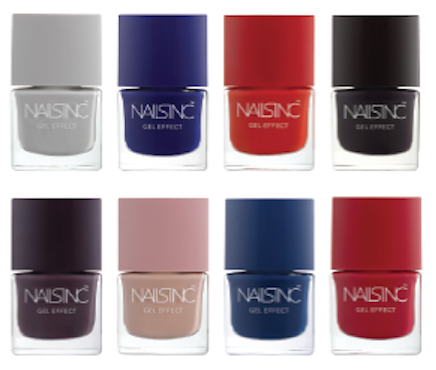 Nails Inc AW 2014 Gel Effect Nail Shades With Swatches