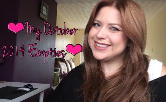 YouTube: October 2014 Empties
