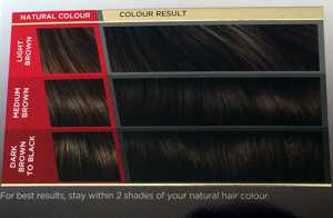 Vidal Sassoon Salonist Permanent Hair Colour 3/0 Darkest Neutral Brown - Shade indication results on box