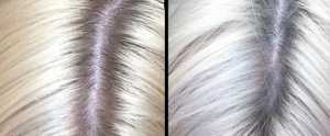Jerome Russell BBlonde Silver Toner - (Left) Before and (Right) After