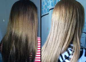 JoBaz Hair Colour Remover Max Strength - (Left) Before and (Right) After