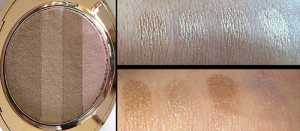 No7 Shimmer Palette in Caramel Swatches individual(Top) Without flash (Bottom) With Flash