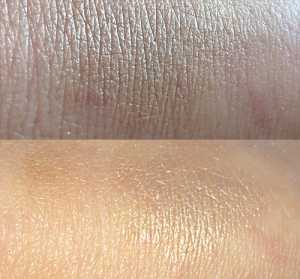 No7 Shimmer Palette in Caramel Blended Swatches (Top) Without flash (Bottom) With flash