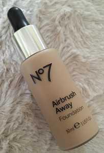 No7 Airbrush Away Foundation in Warm Beige
