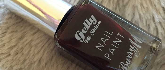 Barry M Gelly Nail Polish in Black Cherry
