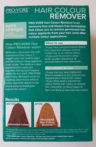 Pro:Voke Hair Colour Remover - Rear packaging