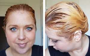 Pro:Voke Hair Colour Remover - After processing time before buffering