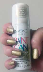 Nails inc Good as Gold Paint Can Spray