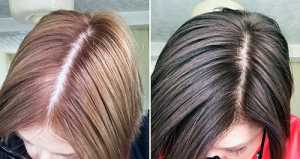 Josh Wood Colour Permanent Hair Colour in 6.5 Dark Blonde before after top