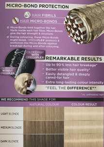 Schwarzkopf Color Expert Light Cool Blonde 10.2 Hair Dye Colour prediction chart